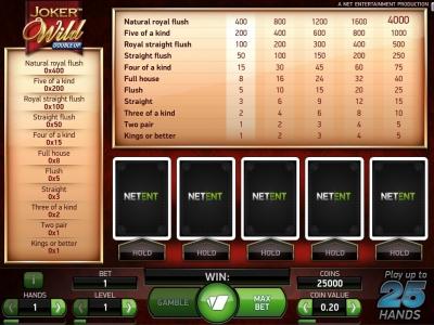 Joker Wild Multi Hand - Mobil6000